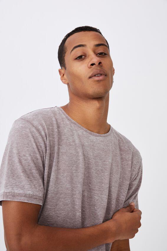 Longline Scoop Burnout T-Shirt, MUSK