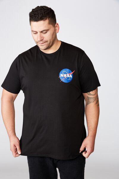 Tbar Collab Tee, LCN NAS BLACK/NASA - WORLD LOGO