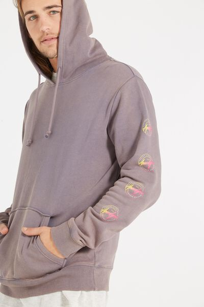 Fleece Pullover 2, BLUESTONE GREY/ACID APOCALYPSO