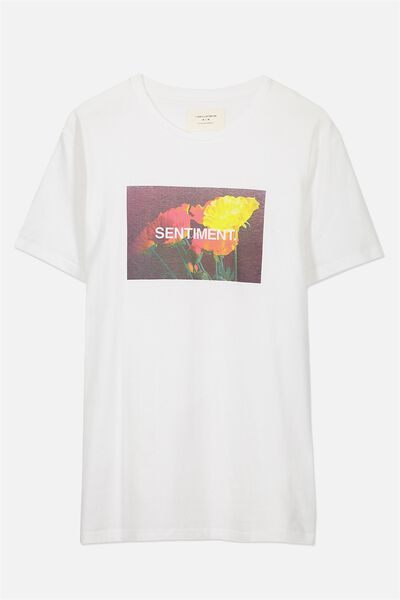 Tbar Tee 2, WHITE/SENTIMENT