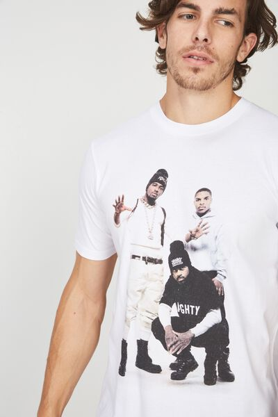 Tbar Collaboration Tee, LC WHITE/NAUGHTY BY NATURE