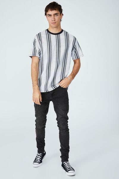 Downtown T-Shirt, BLACK PIN STRIPE