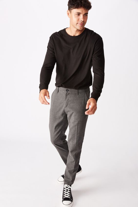 Oxford Trouser, TEXTURED CHARCOAL