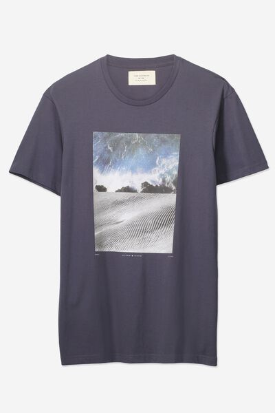 Tbar Tee 2, LATE NIGHT BLUE/OCEAN SAND SPLIT