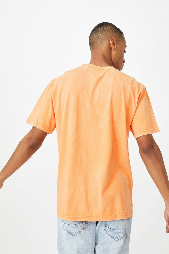Washed Pocket T-Shirt, RAVE ORANGE