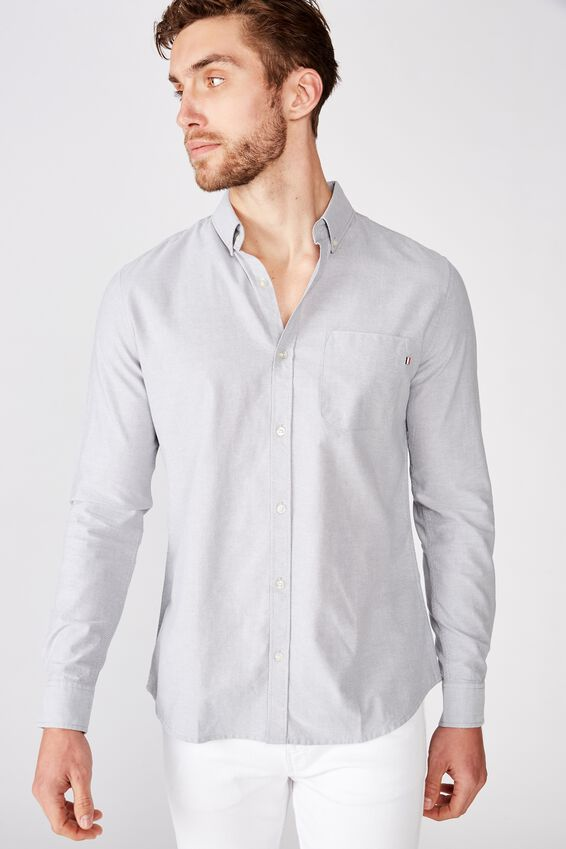 Brunswick Shirt 3, LIGHT GREY WHITE
