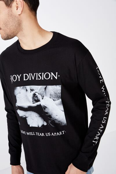 18326e304f9cf Tbar Collaboration Ls Tee, LCN WMG BLACK/JOY DIVISION LOVE WILL TEAR US  APART