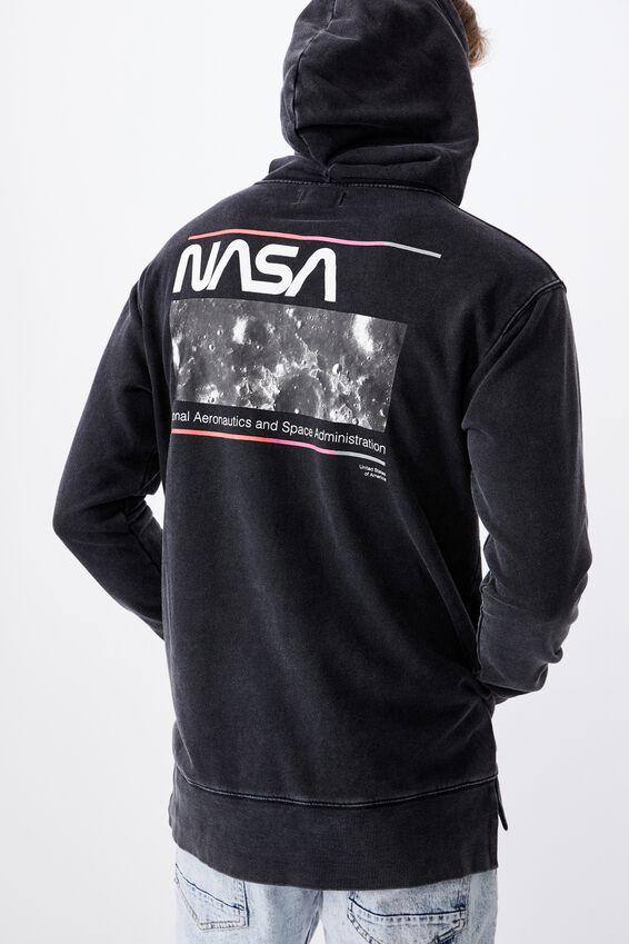 Droptail Oversized Pullover, LCN NAS WASHED BLACK