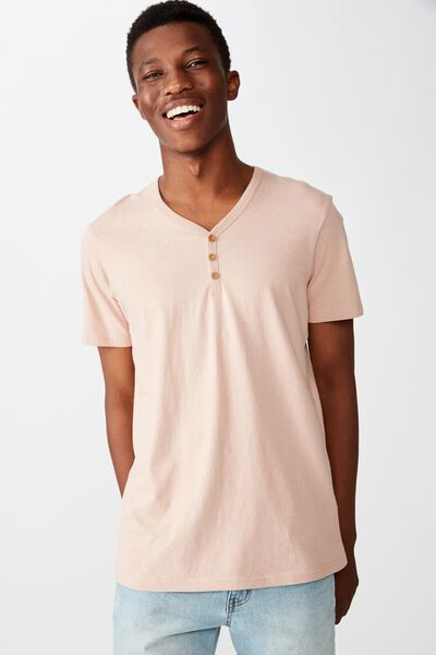 Essential Henley T-Shirt, DIRTY PINK