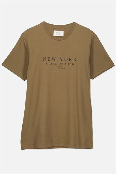 Tbar Tee 2, JUNGLE KHAKI/NEW YORK STATE OF MIND