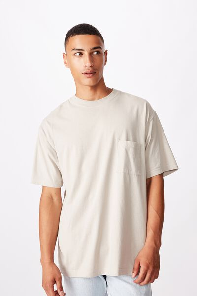 Washed Pocket Tee, LIGHT SMOKE