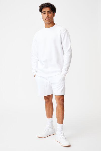 Essential Crew Fleece, WHITE