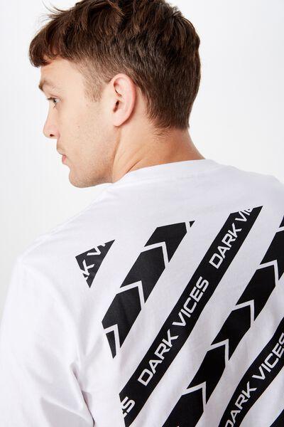 Tbar Art T-Shirt, SK8 WHITE/DARK VICES