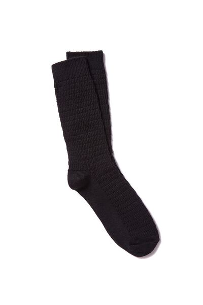 Single Pack Active Socks, CABLE BLACK