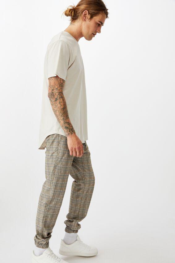 Drake Cuffed Pant, HAZELNUT CHECK