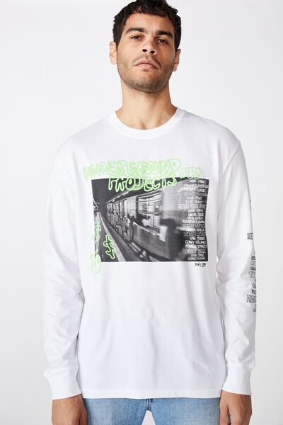 Tbar Long Sleeve, WHITE/UNDERGROUND PROJECTS