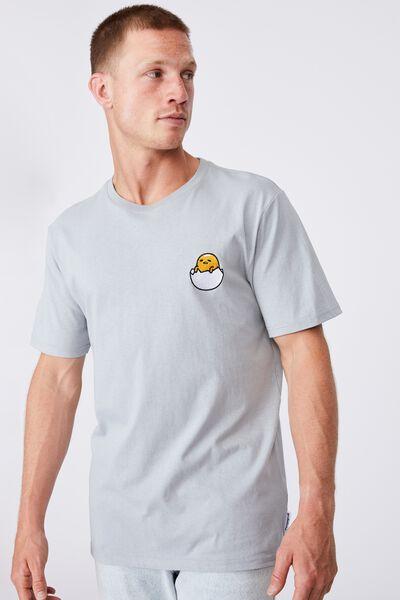 Tbar Collab Character T-Shirt, LCN SAN BLUE HAZE/GUDETAMA - HATCH