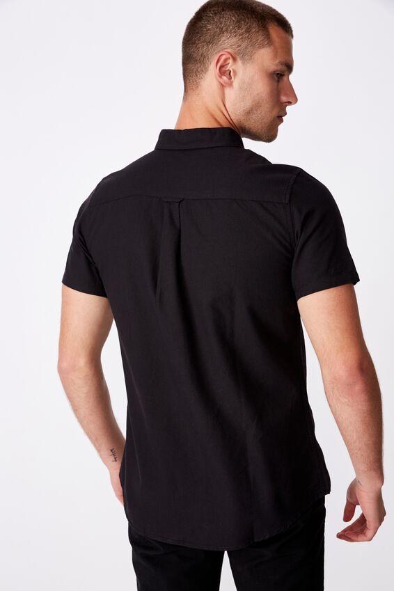 Vintage Prep Short Sleeve Shirt, BLACK OXFORD
