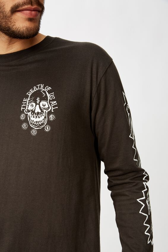 Tbar Long Sleeve, WASHED BLACK/DEATH OF US ALL