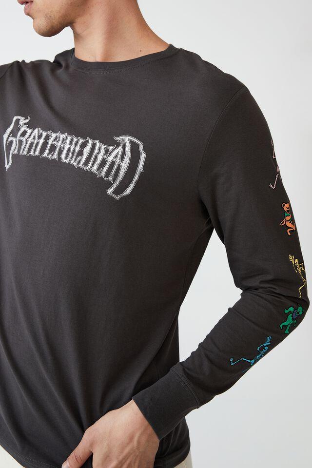 Tbar Collab Long Sleeve T-Shirt, LCN WMG FADED SLATE GRATEFUL DEAD - DANCING