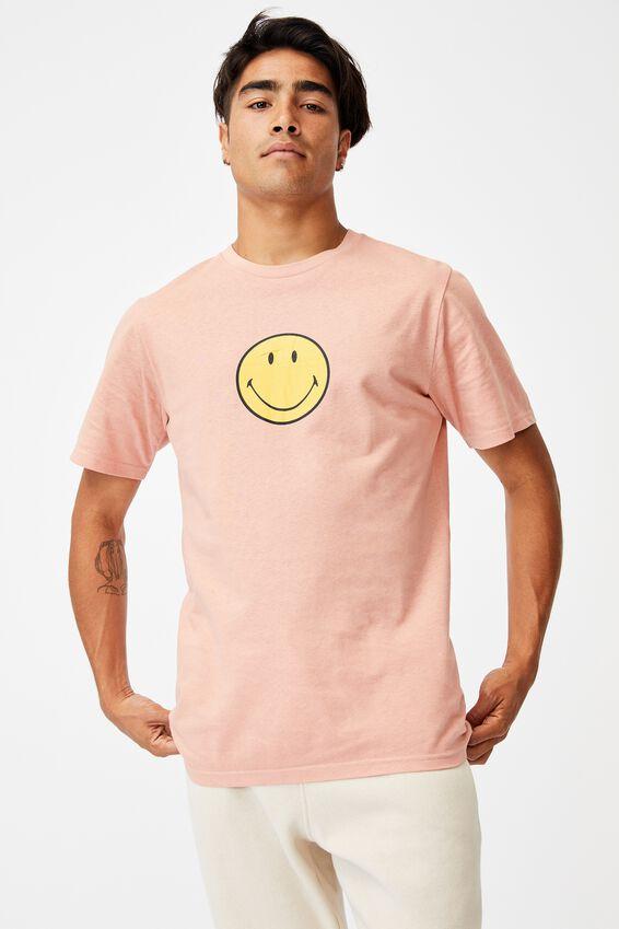 Tbar Collab Pop Culture T-Shirt, LCN SMI PEACH/SMILEY