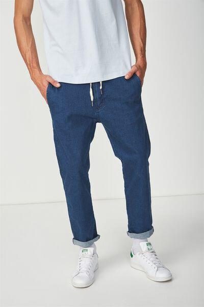 Denim Roller Pant, INDIGO BLUE PINSTRIPE