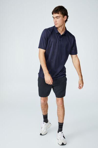 Active Short Sleeve Polo, TRUE NAVY