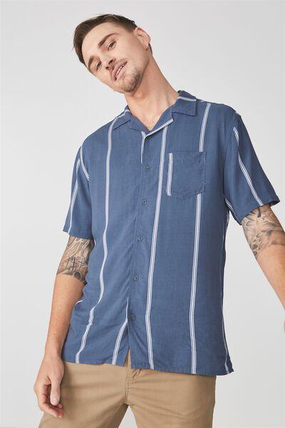 Festival Shirt, BLUE WHITE STRIPE