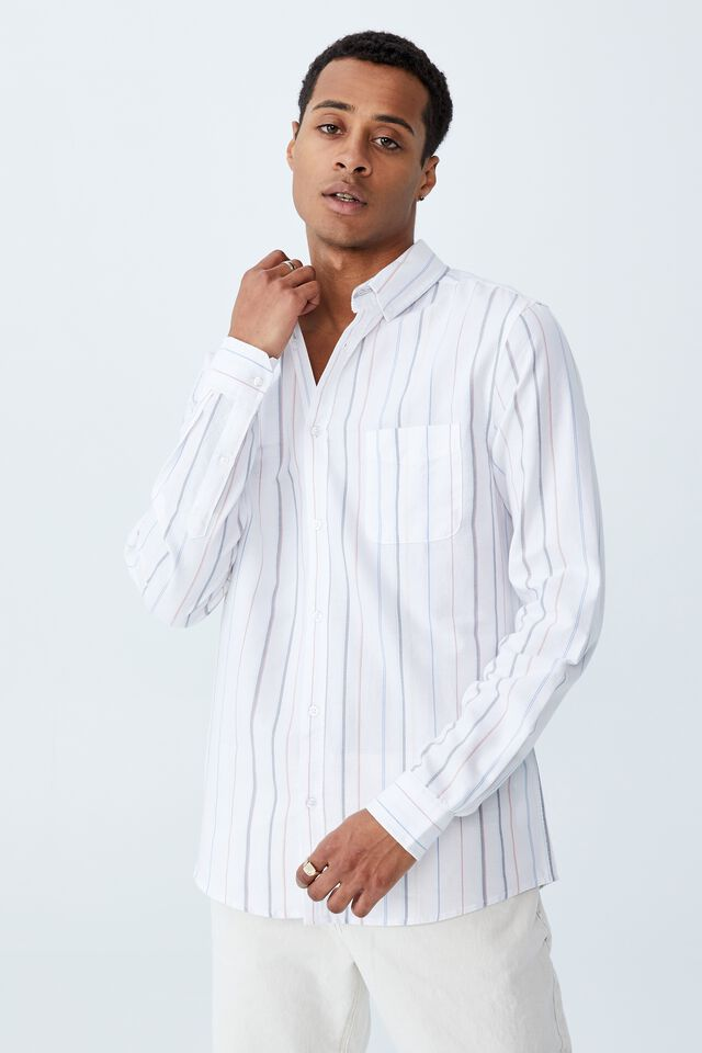 Brunswick Shirt 3, WIDE COLOUR STRIPE