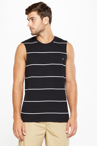 Staple Muscle, BLACK/WHITE STRIPE/STRIPE BRONX