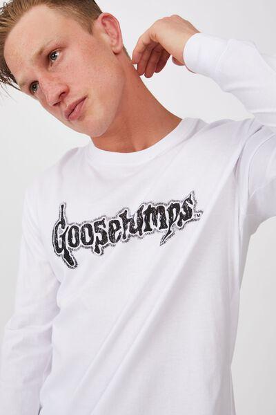 Tbar Collab Ls Tee, LCN SON WHITE/GOOSEBUMPS - HORRORLAND