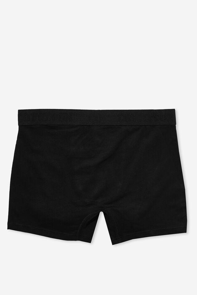 Mens Cotton Trunks, BLACK/BLACK