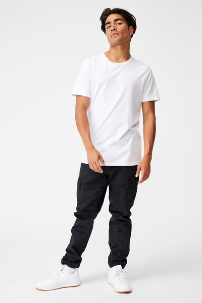 Military Cargo Pant, WASHED BLACK