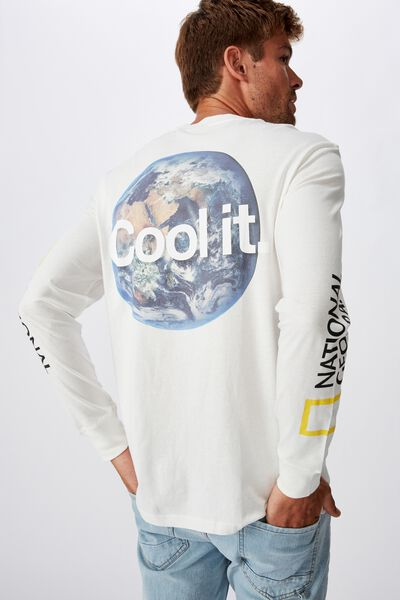 Tbar Collaboration Ls Tee, LCN NG VINTAGE WHITE/NATIONAL GEOGRAPHIC - COOL IT