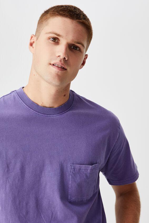 Washed Pocket T-Shirt, GRAPE