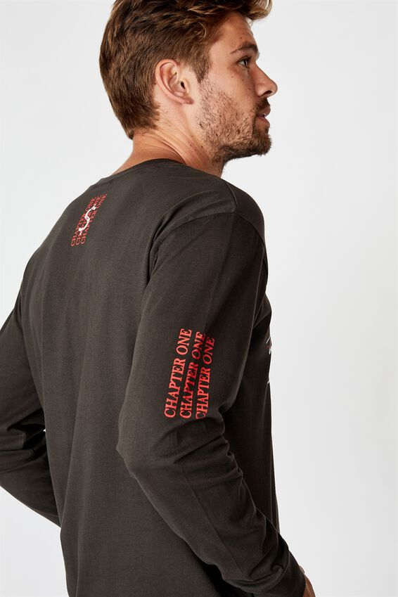 Tbar Long Sleeve T-Shirt, WASHED BLACK/CHAPTER ONE