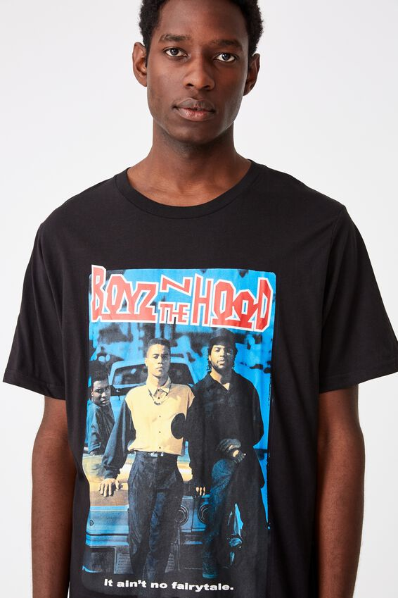 Tbar Collab Movie And Tv T-Shirt, LCN SON SK8 BLACK/BOYZ IN THE HOOD - COVER