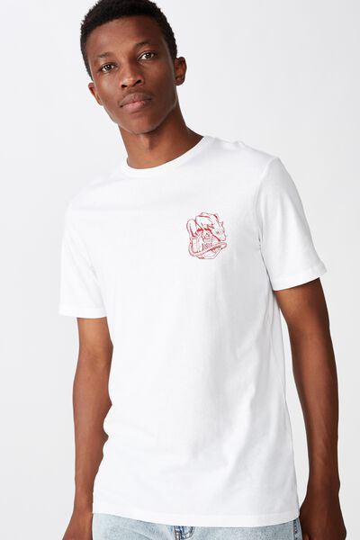 Tbar Cny T-Shirt, WHITE/LUCKY RAT