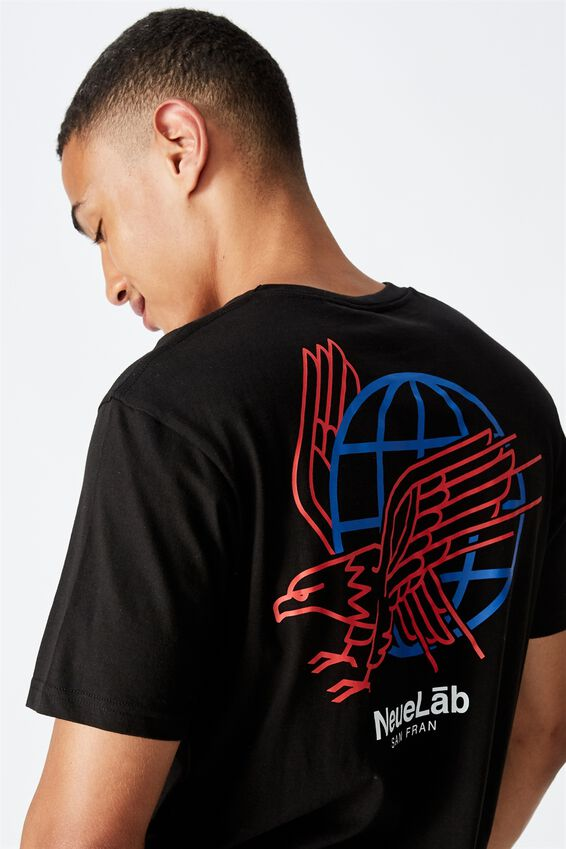 Tbar Street T-Shirt, BLACK/NEUELAB SAN FRAN