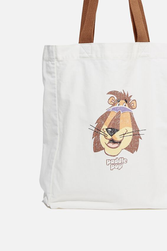 Special Edition Shoulder Tote, LCN STR STREETS/PADDLE POP LION/WHITE