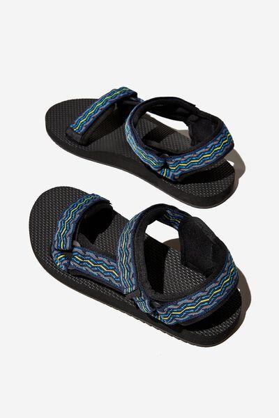 Mens Strap Sandal, BLUE MULTI