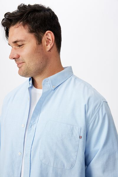 Brunswick Shirt, SKY BLUE OXFORD