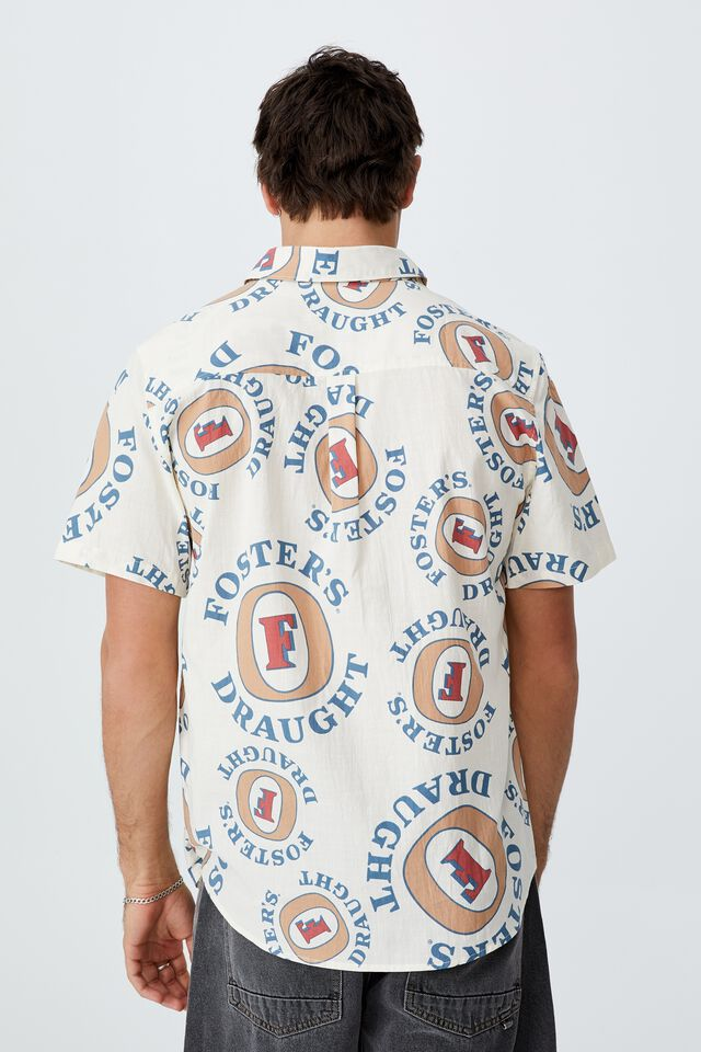 Fosters Short Sleeve Shirt, LCN CUB OFF WHITE