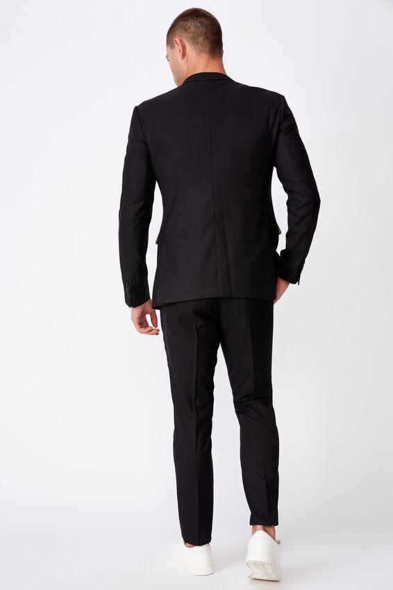 Slim Stretch Suit Jacket, TRUE BLACK