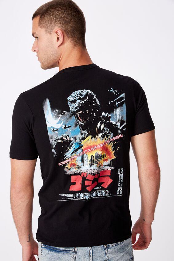 Tbar Collab Movie And Tv T-Shirt, LCN TOH BLACK/GODZILLA - TERROR POSTER