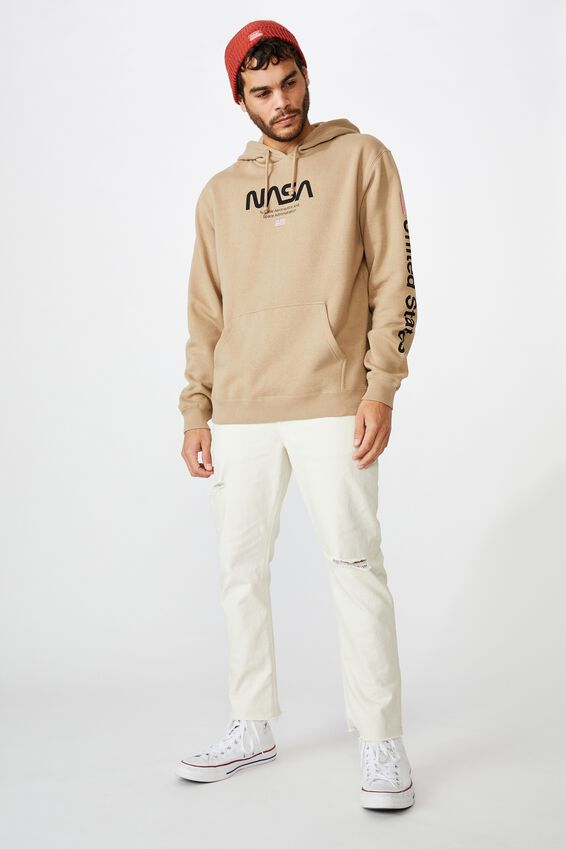 Collab Fleece Pullover, LCN NAS GRAVEL STONE/NATIONAL AERONAUTIC