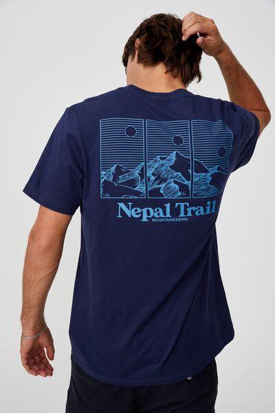 Tbar Souvenir T-Shirt, INDIGO/NEPAL TRAIL
