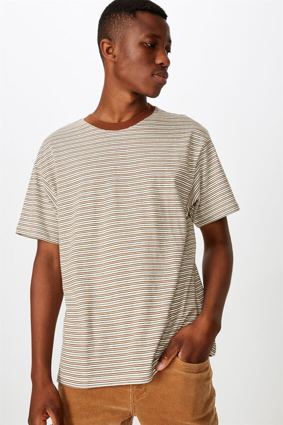 Dylan Tee, VINTAGE WHITE/DASCHUND BROWN/PALE SAND/WASHED BLAC