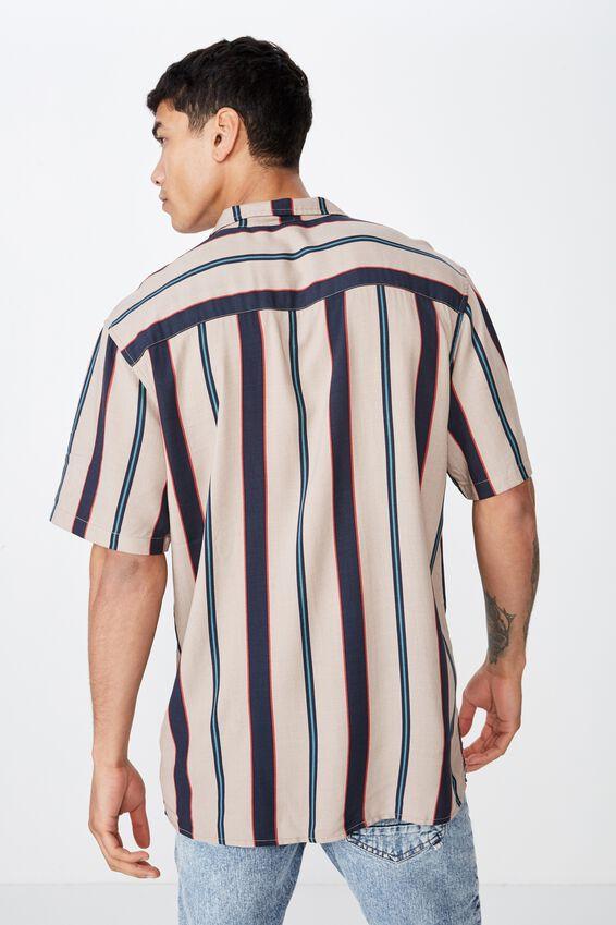 Festival Shirt, STONE NAVY STRIPE