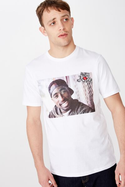 Tbar Collab Movie And Tv T-Shirt, LCN SO WHITE/2PAC - POETIC JUSTICE FENCE